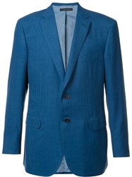 Brioni Flap Pocket Blazer Blue