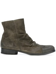 Fiorentini Baker Crease Effect Ankle Boots Grey