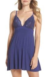 Black Bow Demure Chemise Blue Ribbon
