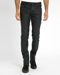 Ikks Black Coated Cotton Jeans