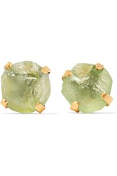 Pippa Small 14 Karat Gold Peridot Earrings