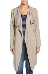 Women's Bb Dakota 'Braylon' Tencel Drape Front Long Coat