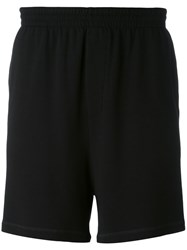 Dsquared2 Underwear Track Shorts Men Spandex Elastane Viscose S Black