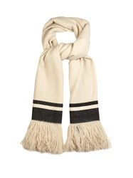 Isabel Marant Cover Fringed Cashmere Scarf Cream