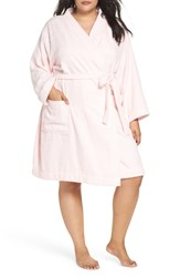 Ugg Plus Size Lorie Terry Short Robe Seashell Pink