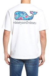 Vineyard Vines Men's Ocean Floral Whale Pocket T Shirt