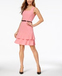 Nine West Tiered Fit And Flare Dress Bubble Gum