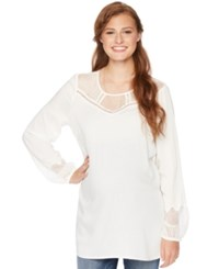 Wendy Bellissimomaternity Lace Trim Blouse