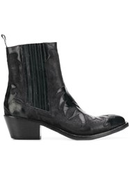 Sartore Western Style Boots Blue