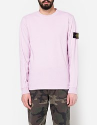 Stone Island Cotton Jersey Ls T Shirt In Rose Quartz