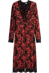 Preen By Thornton Bregazzi Gingham Dress With Lace Overlay Multicolor