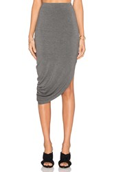 Bella Luxx Asymmetrical Drape Maxi Skirt Gray