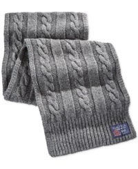 Nautica Cable Knit Scarf Granite Heather