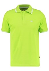 Alpha Industries Twin Stripe Polo Shirt Lime Light Green