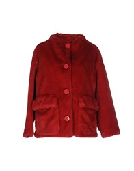 Douuod Coats And Jackets Faux Furs Red