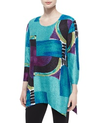 Berek 3 4 Sleeve Abstract Print Tunic Women's