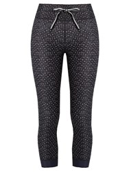 The Upside Twilight Print Cropped Performance Leggings Black White