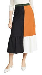 Chinti And Parker Colorblock Skirt Black Multi