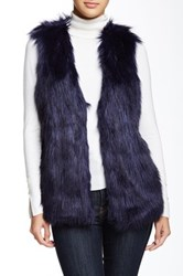 Romeo And Juliet Couture Faux Fur Vest Blue