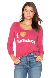 Chaser I Heart Holidays Tee Red