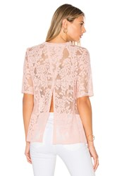 Bcbgeneration Open Back Tee Blush