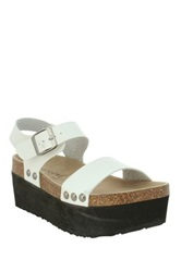 Extreme By Eddie Marc Cate Chunky Platform Sandal White