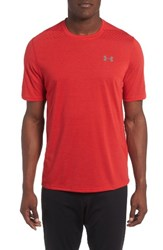 Under Armour Men's Threadborne Siro Regular Fit T Shirt Red Graphite