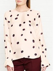 Paul Smith Ps By Large Spot Cuff Detail Blouse Pink