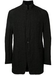 Forme D'expression Broderie Standing Collar Jacket Black