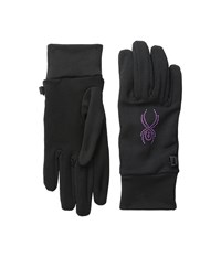 Spyder Stretch Fleece Conduct Glove Black Wild Extreme Cold Weather Gloves