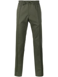 Valentino Straight Leg Trousers Green
