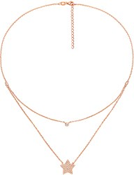 Folli Follie Fashionably Rose Gold Plated Star Necklace