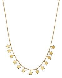Moon And Meadow Star Frontal Necklace In 14K Yellow Gold 17 100 Exclusive