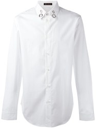 Versace Eyelet Collar Shirt White