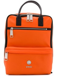 Versus Square Backpack Yellow And Orange