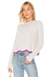 Autumn Cashmere Shaker Crew Neck Sweater Gray