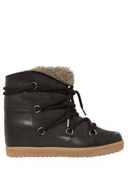Isabel Marant Etoile 70Mm Nowles Shearling Wedge Boots