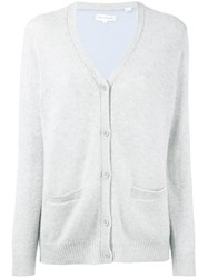 Chinti And Parker Cashmere Two Tone Cardigan Women Cashmere L Grey