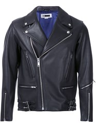 H Beauty And Youth. Short Biker Jacket Black