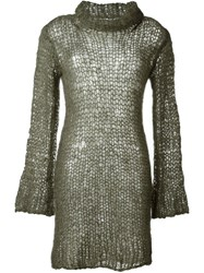 Junya Watanabe Comme Des Gara Ons Vintage Open Knit Dress Green