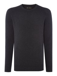 Label Lab Men's Isaac Waffle Crew Neck Knit Charcoal Marl