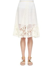 See By Chloe Lace A Line Knee Length Skirt