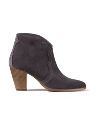 Jigsaw Cara Suede Side Zip Boot Charcoal