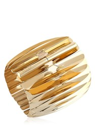 Pluma Gold Plated Fishbone Bangle
