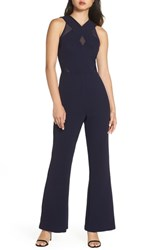 Harlyn Illusion Inset Jumpsuit Navy