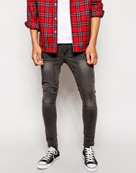 Cheap Monday Jeans Low Spray Super Skinny Great Grey