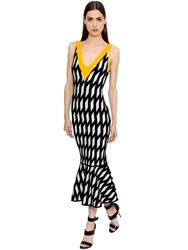David Koma Geometric Jacquard Knit Dress