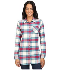 Mountain Khakis Penny Plaid Tunic Shirt Cream Women's Blouse Beige