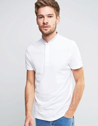 Selected Homme Round Tip Collar Short Sleeve Polo White