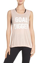 Private Party Women's Goal Digger Tank Peach